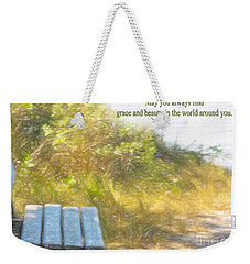 A Seat By The Ocean To Observe God's Beauty Weekender Tote Bag