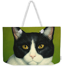 A Serious Cat Weekender Tote Bag