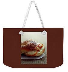 A Sesame Bagel Weekender Tote Bag