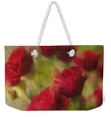 A Shower Of Roses Weekender Tote Bag by Colleen Taylor