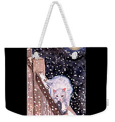 Weekender Tote Bag featuring the painting A Silent Journey by Angela Davies