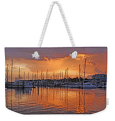 Weekender Tote Bag featuring the photograph A Sky Full Of Wonder - Florida Sunset by HH Photography of Florida