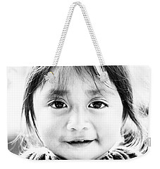 A Small Guatemalam Life - Black And White Weekender Tote Bag by Shelby  Young