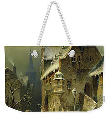 A Small Town In The Rhine Weekender Tote Bag by August Schlieker