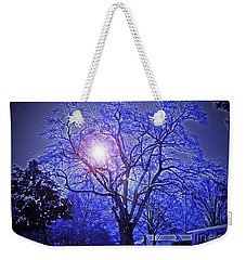 A Snow Glow Evening Weekender Tote Bag