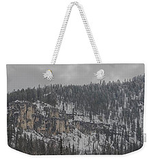 A Snowy Day In Spearfish Canyon Of South Dakota Weekender Tote Bag