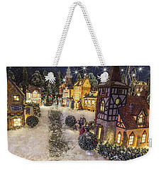 A Snowy Evening Weekender Tote Bag by Caitlyn  Grasso
