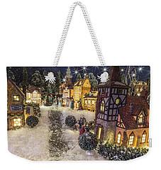 A Snowy Evening Weekender Tote Bag