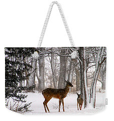 A Snowy Path Weekender Tote Bag
