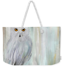 A Snowy Stare Weekender Tote Bag