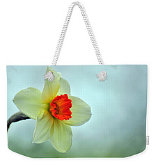Weekender Tote Bag featuring the photograph A Spring Greeting by Rebecca Sherman