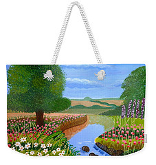 A Spring Stream Weekender Tote Bag by Magdalena Frohnsdorff