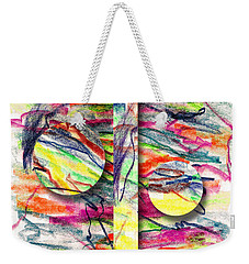 Weekender Tote Bag featuring the drawing A Summers Day Breeze by Peter Piatt