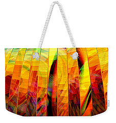 Weekender Tote Bag featuring the digital art A Sunny Autumn Day  by Andreas Thust
