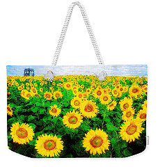 Weekender Tote Bag featuring the painting A Sunny Day With Vincent by Sandy MacGowan