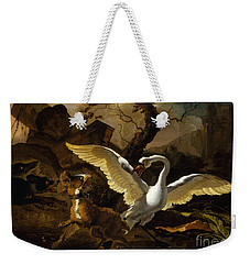 A Swan Enraged By Hondius Weekender Tote Bag
