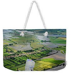 Weekender Tote Bag featuring the photograph A Swordfish Aircraft With The Royal Navy Historic Flight. by Paul Fearn