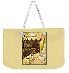 A Table At An Italian Cafe Weekender Tote Bag
