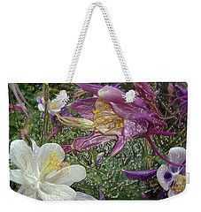 a taste of dew i do and PCC  garden too     GARDEN IN SPRING MAJOR Weekender Tote Bag
