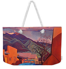 A Teal Truck In Taos Weekender Tote Bag