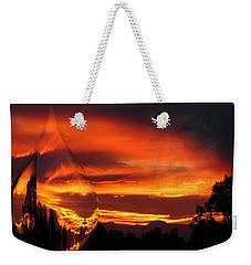 Weekender Tote Bag featuring the digital art A Teardrop In Time by Joyce Dickens