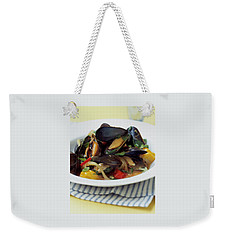 A Thai Dish Of Mussels And Papaya Weekender Tote Bag