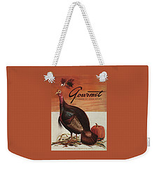 A Thanksgiving Turkey And Pumpkin Weekender Tote Bag