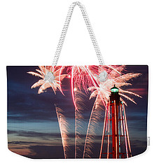 A Three Burst Salvo Of Fire For The Fourth Of July Weekender Tote Bag by Jeff Folger