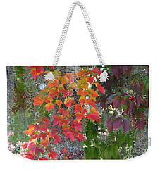 Weekender Tote Bag featuring the digital art A Touch Of Autumn by Mariarosa Rockefeller