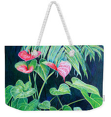 A Touch Of Red Weekender Tote Bag by Mariarosa Rockefeller