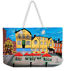 A Town Square On A Clear Day Weekender Tote Bag