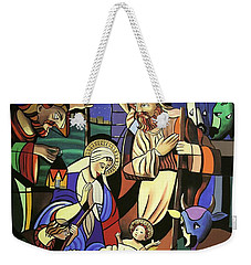 Weekender Tote Bag featuring the painting A True Story by Anthony Falbo