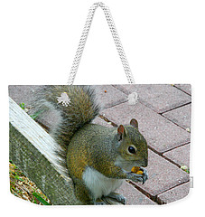 A Two-nut Lunch Weekender Tote Bag by Mariarosa Rockefeller