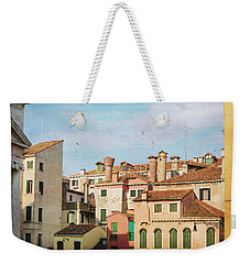 Weekender Tote Bag featuring the photograph A Venetian View by Brooke T Ryan