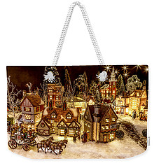 A Very Merry Christmas Weekender Tote Bag by Caitlyn  Grasso
