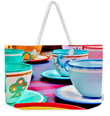 Weekender Tote Bag featuring the photograph A Very Merry Unbirthday by Benjamin Yeager