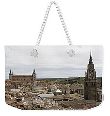 Weekender Tote Bag featuring the photograph A View From The Iglesia De San Ildefonso  by Lorraine Devon Wilke