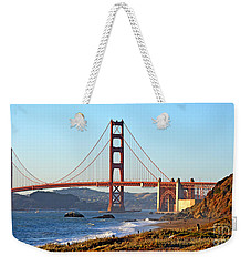 A View Of The Golden Gate Bridge From Baker's Beach  Weekender Tote Bag by Jim Fitzpatrick