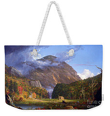 A View Of The Mountain Pass Called The Notch Of The White Mountans By Thomas Cole Weekender Tote Bag