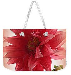 A Vision In  Coral - Dahlia Weekender Tote Bag