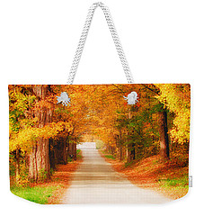 A Walk Along The Golden Path Weekender Tote Bag by Jeff Folger