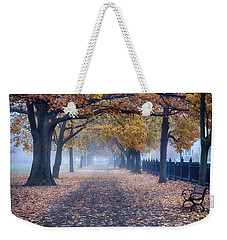 A Walk In Salem Fog Weekender Tote Bag