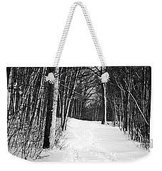 A Walk In Snow Weekender Tote Bag