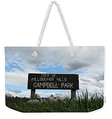 Weekender Tote Bag featuring the photograph A Walk In The Park  by Michael Krek