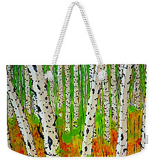A Walk Though The Trees Weekender Tote Bag by Jackie Carpenter