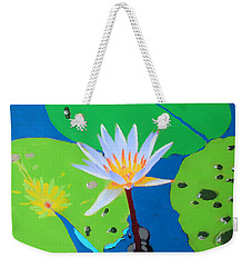 A Water Lily In Its Pad Weekender Tote Bag