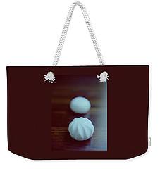 A White Mushroom Weekender Tote Bag