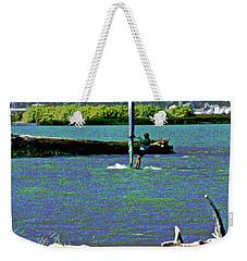 A Wind Surf Holiday Weekender Tote Bag