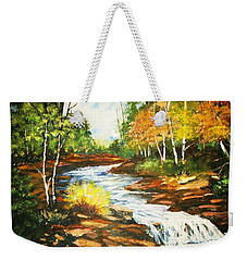 A Winding Creek In Autumn Weekender Tote Bag