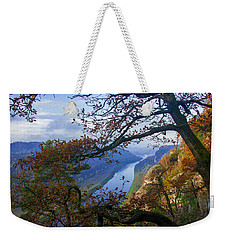 A Window To The Elbe In The Saxon Switzerland Weekender Tote Bag